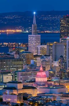 San Francisco City Night Colors by David Yu
