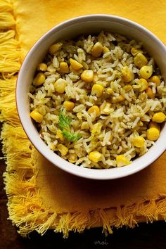 collection of 28 delicious veg pulao recipes. vegetable pulao, kashmiri pulao, paneer pulao, rajma pulao, pulao recipe in pressure cooker. Corn Recipes, Vegetable Recipes, Indian Food Recipes, Vegetarian Recipes, Cooking Recipes, Recipies, Rice And Corn Recipe, Paneer Pulao, Veg Biryani