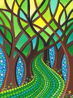 Walk your own Path by Elspeth McLean Mandala Art, Mandala Painting, Mandala Design, Dot Art Painting, Stone Painting, Painting & Drawing, Kunst Der Aborigines, Art Indien, Elspeth Mclean