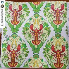 """Boa Tarde Pessoaaaaal!! Olhem que lindas as lagostas da @ceciliachong75 ・・・ ・・・・・・・・・・・・・・・ Livro - Oceano Perdido #editorasextante #johannabasford…"""