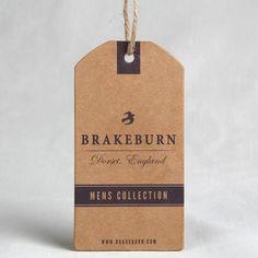 kraft paper hang tag with drawstring