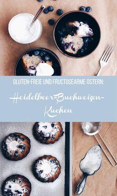 Gluten-freie Ostern: Fructosearmer Heidelbeer-Buchweizen-Kuchen mit Zitronencreme // by fructopia.de #freefrom #foodsensitivities #holidaybaking