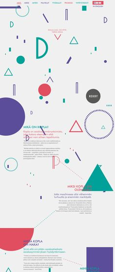 Kopla http://www.kopla.fi/ #parallax #scrolling #infographics #typographics