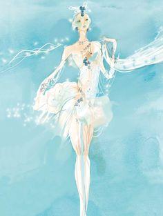 Maquette de costume de Christian Lacroix  pour Naïla dans le ballet La Source. Palais Garnier, 2011. © Christian Lacroix. Conception : Atalante-Paris