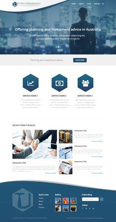 Corporate Website Design, Simple Website Design, Business Web Design, Web Design Websites, Website Design Layout, Web Design Tips, Web Design Tutorials, Web Layout, Maquette Site Web