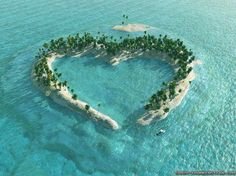 Heart Island in mangrove delta of the Vaza-Barris River, Brazil