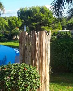 An outdoor shower is a great addition to any garden! For this outdoor shower we used rose gum laths for a natural look!  #outdoors #outdoorshower #outdoor #shower #timber #lath #poolside #pool #gardendesign #landscaing #exterior #lifestyle #capereed #excusiveliving Natural Looks, Wind Chimes, Garden Design, Construction, Outdoors, Exterior, Outdoor Structures, Rustic, Shower