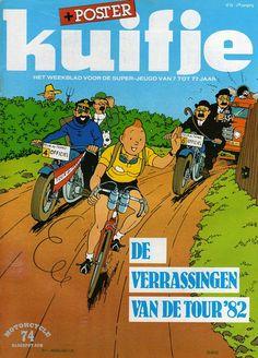 Tintin leading the Tour de France