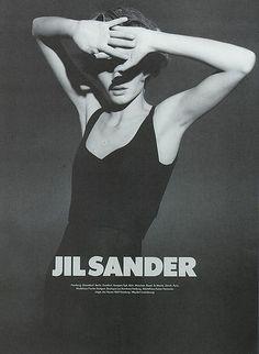 Rag Pony: Amber Valletta for Jil Sander Fall 1995