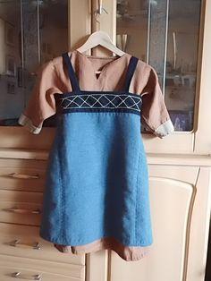 Kunderenauftrag Wikinger Trägerrock und Unterkleid für ein Kind