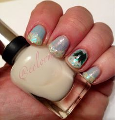 Sinful Colors- Cinderella  Sinful Colors- In the Mist  Sinful Colors- San Francisco  Nail Art- Cocoa  Revlon- Heavenly  Sally Hansen- Polar Bare