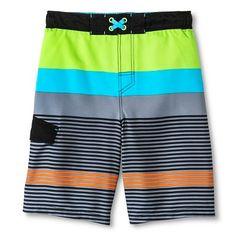 Boys' Mixed Stripe Swim Trunk Multi-Colored - Cherokee®