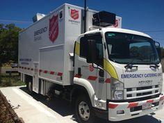 Die Katastrophenhilfe der Heilsarmee in Australien ist regelmäßig bei Überschwemmungen und Buschbränden im Einsatz. Im Süden von Queensland wurde hierfür im Oktober 2014 dieses Versorgungsfahrzeug angeschafft.