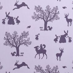 Choose your Wallpaper or Lampshade Design  Enchanted Forest Lilac