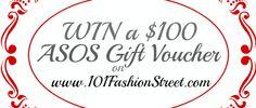 Win an Asos Gift Voucher on   www.101FashionStreet.com