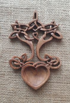 Wooden Spoon Carving, Carved Spoons, Wooden Spoons, Wood Carving, Welsh Love Spoons, Tree Surgeons, Scroll Saw, Hand Carved, Romantic