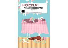 opstuur kookboekje 'hoera!' Uitgeverij Snor   kinderen-shop Kleine Zebra