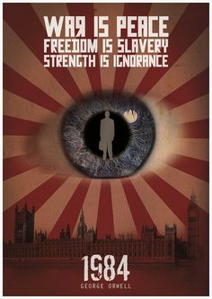 Orwell 1984 poster by Redpostbox