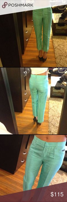 Dolce & Gabbana Thai Silk Turquoise pants size 40 Absolutely stunning light turquoise tie silk pants. Perfect for summer party or another dressed up occasion. Size 40 Italian, and they fit me I'm a size 4. Barely been used, they are as new. Dolce & Gabbana Pants