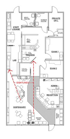1000 ideas about medical office design on pinterest for Long narrow office layout