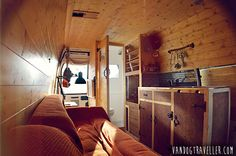 """""""From old rusty van to my nice cosy camper van home in 5 months... See the finished result of my van conversion and all it's features"""".. Amazing one man on a mission!"""