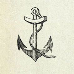 Anchor illustration by valeria Logo Typo, Typography, Anchor Tattoos, Picture Tattoos, Tattoo Pics, Body Art, Art Drawings, Tattoo Designs, Doodle Designs