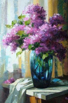 yağlı boya çiçek tabloları
