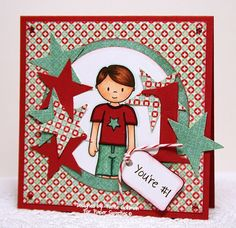 Designed by Pattie Goldman using Jake, You're a Superstar and Little Wishes stamp sets from Paper Sweeties!