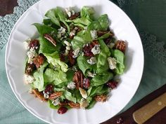Maple Spiced Pecan, Cranberry & Blue Cheese Salad