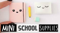 4 DIY REAL MINI SCHOOL SUPPLIES! Cute & Easy! - YouTube