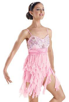 Jeweled Fabric Twirls Biketard; Weissman Costumes (5663)