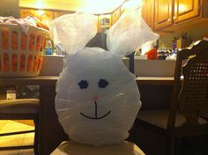 My bunny head wreath that I made.