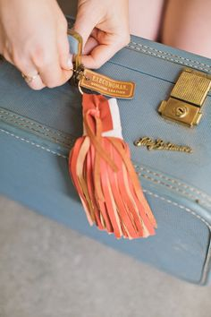 Instructions: Making a suede tassel.  Rue Magazine (June 2012 Issue).  Photography by The Way We Love.