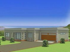 single storey flat roof house plans in south africa Google