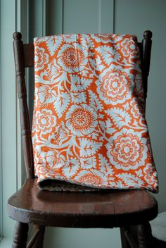 Baby Blanket - Crib or Toddler blanket backed with Tan Minky on Etsy, $63.40 CAD