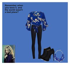 """Wasn't A Bad Place"" by stellazu ❤ liked on Polyvore featuring THVM, River Island, Giuseppe Zanotti and Kate Spade"
