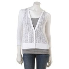 SO Openwork Cardigan - Kohls- Comes in Pink, and several other colors