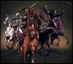 21 Best Four Horsemen Tattoo Ideas Images Angels Demons