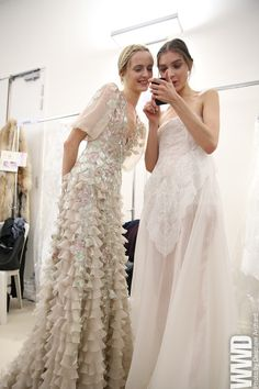 wow...the dress on the left.  (Backstage at Valentino Spring Couture 2013.)