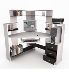 21 Best DIY Computer Desk Ideas for Home Office Inspiration Diy Storage Desk, Computer Desk Design, Computer Tables, Wallpaper Computer, Home Music, Home Furniture, Furniture Design, Room Setup, Home Office Design