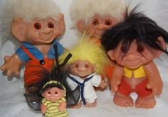 I had several of these very popular trolls Right In The Childhood, Childhood Memories, 1970s Toys, Troll Dolls, Old Toys, Good Old, Kids Playing, My Little Pony, Nostalgia