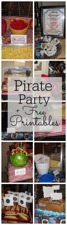 Pirate Party with FREE Printables