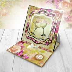 Card created from Hunkydory Crafts' Champagne Celebration Topper Set Hunkydory Crafts, Heartfelt Creations, Hunky Dory, Card Stock, Birthday Cards, Champagne, Birthdays, Paper Crafts, Create