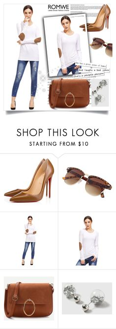 """""""ROMWE 1"""" by amrafashion ❤ liked on Polyvore featuring Christian Louboutin and Dorothy Perkins"""