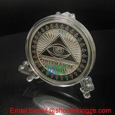 2016 Freemason Masonic Coin with eye #Aliexpress  #metalcraft #coin #Xmas #valentinesday #gift