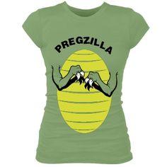 Pregzilla: Custom Junior Fit Bella Sheer Longer Length Rib T-Shirt - Customized Girl