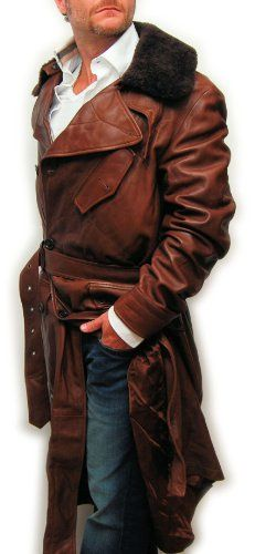 Polo Ralph Lauren Purple Label Mens Leather SheaRLing Fur Italy Trench Long Jacket Coat Brown