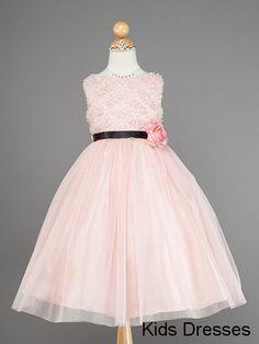Pink flower girl dress baby flower girl Dress by kidsdresses, $40.00
