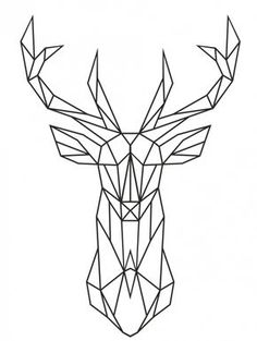 Cheap decor, Buy Quality decorative window stickers directly from China decorative door stickers Suppliers: 2016 New Design Geometric Deer Head Wall Sticker Geometry Animal Series Decals Vinyl Wall Art Custom Home Decor Size Geometric Deer, Geometric Drawing, Geometric Tattoos, Geometric Tattoo Animal, Geometric Painting, 3d Drawings, Animal Drawings, Drawing Animals, Deer Drawing