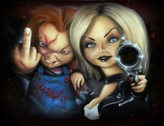 tilldeathbabe -Watch Free Latest Movies Online on Chucky Movies, Movie V, Bride Of Chucky, Horror Artwork, Marvin The Martian, Childhood Movies, Classic Horror Movies, Movie Poster Art, Vintage Horror